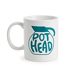 Core Kitchen Pot Head Mug in White/Blue