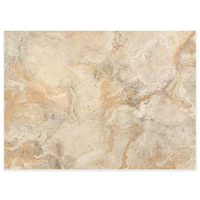 Alternate image 1 for Traventine Marble Laminated Placemats in Taupe (Set of 4)