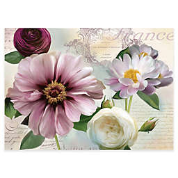MHF Home Floral Laminated Placemats in Purple (Set of 4)