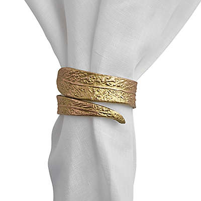 Olivia & Oliver Leaf Napkin Rings (Set of 4)