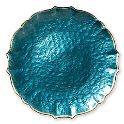 Viva by Vietri Glass Charger Plate in Teal