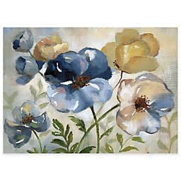 MHF Home Watercolor Floral Laminated Placemats in Blue (Set of 4)