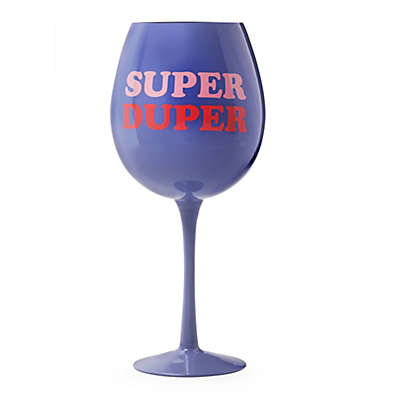 dci SUPER DUPER XL Multicolor Wine Glass