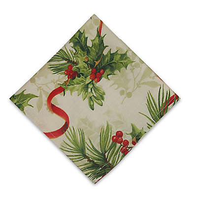 Holly Traditions Double Border Napkin (Set of 8)
