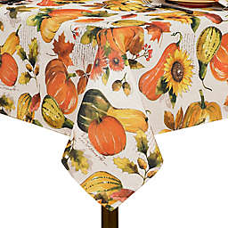Grateful Season Swaying Leaves Tablecloth in Brick