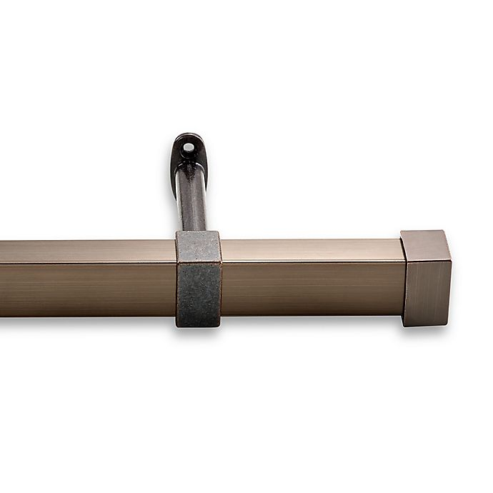 Alternate image 1 for Cambria® Metro 108-Inch Single Curtain Rod in Oil Rubbed Bronze