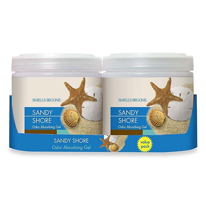 Alternate image 1 for SMELLS BEGONE® Sandy Shore 15 oz. Odor Absorbing Gel Jars (Set of 2)