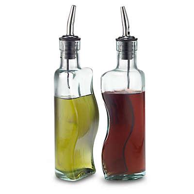 TableCraft® Puzzle Shaped Oil and Vinegar Bottle Set