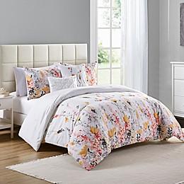 VCNY Misha Comforter Set in White/Orange