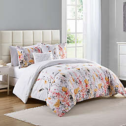 VCNY Home Misha 4-Piece Twin Comforter Set in White/Orange