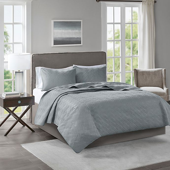 Alternate image 1 for 510 Designs Lucca Full/Queen Coverlet in Grey
