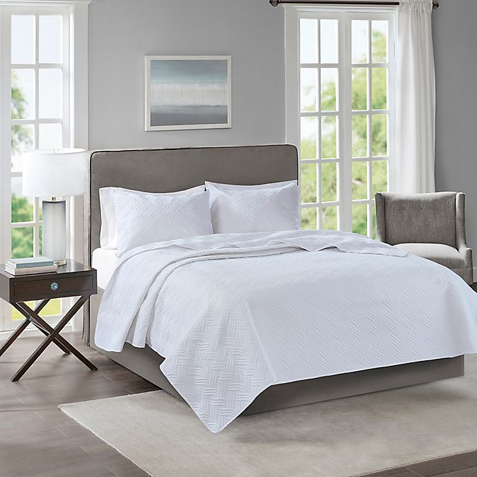 Alternate image 1 for 510 Designs Lucca Full/Queen Coverlet in White