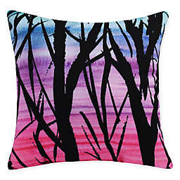 E by Design Sunset Branches Square Throw Pillow