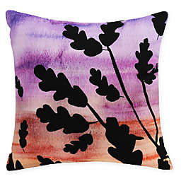 E by Design Flowing Leaves Square Throw Pillow