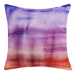 E by Design Harvest Sunset Beauty Square Throw Pillow