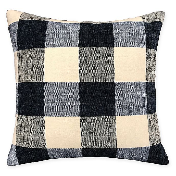 Alternate image 1 for Buffalo Plaid Square Throw Pillow in Navy