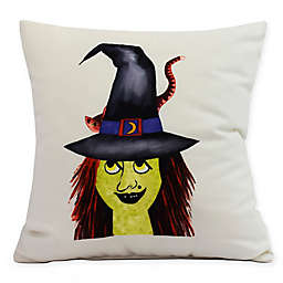 E by Design Witches Hat Square Throw Pillow