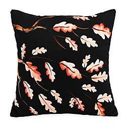 E by Design Wild Oak Branch Square Throw Pillow