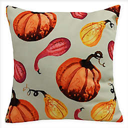 E by Design Gourds Galore Square Throw Pillow