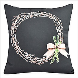 E by Design Sprig of Green Square Throw Pillow