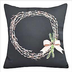 E by Design Sprig of Green Square Throw Pillow
