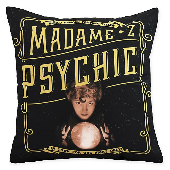 Alternate image 1 for E By Design Witches Brew Madame Psychic Square Throw Pillow in Gold/Yellow