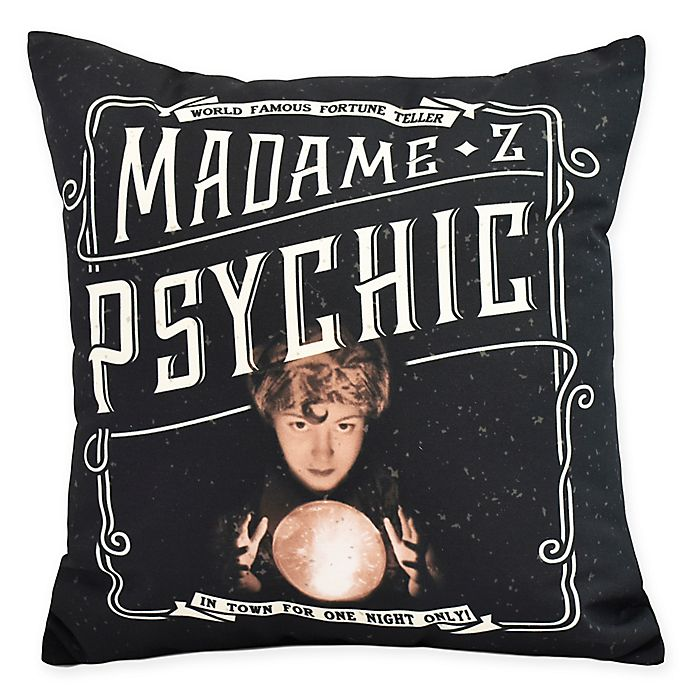 Alternate image 1 for E By Design Witches Brew Madame Psychic Square Throw Pillow in Cream