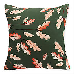 E By Design Wild Oak Leaves Square Throw Pillow