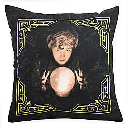 E By Design Witches Brew All Seeing Psychic Square Throw Pillow