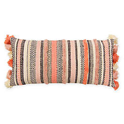 American Colors Striped Tassel Oblong Throw Pillow