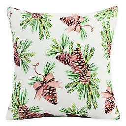 E by Design Greenery Square Throw Pillow