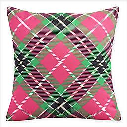 E by Design Mad for Plaid Square Throw Pillow