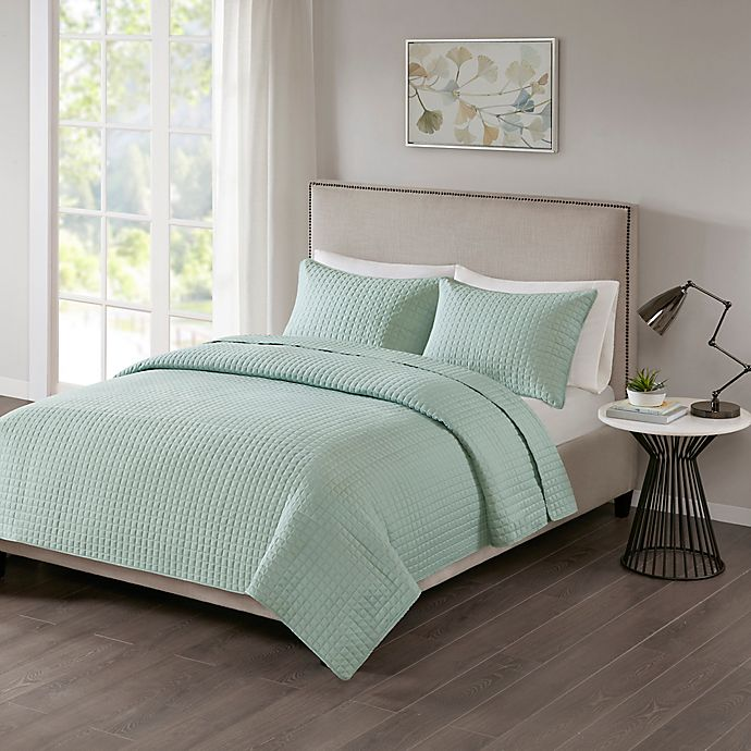 Alternate image 1 for 510 Designs Otto King/California King Coverlet in Seafoam