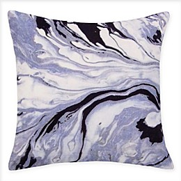 American Colors Marble Velvet Square Throw Pillow in Black