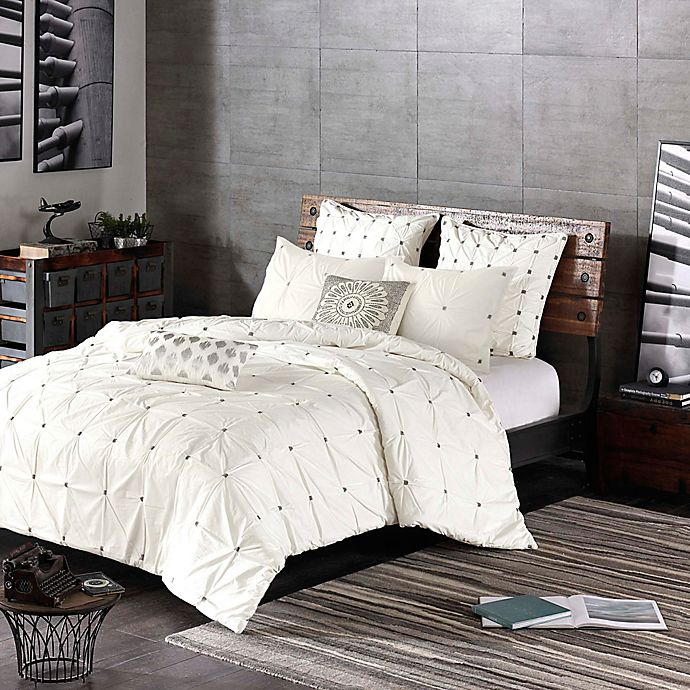 Alternate image 1 for INK+IVY Masie 3-Piece Comforter Set in Creamy White