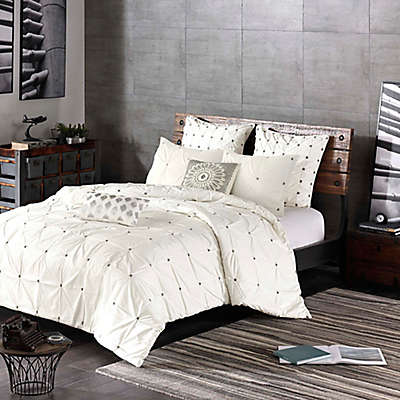 INK+IVY Masie 3-Piece Comforter Set in Creamy White