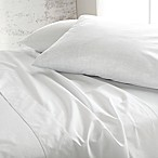 DKNY Pure Eco Chambray King Sheet Set in White