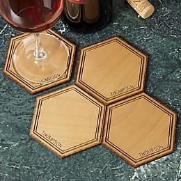 Hexagon Alder Wood Coaster