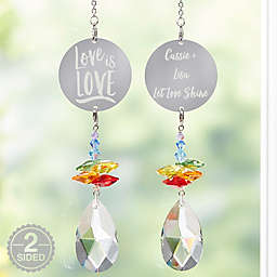 Personalized Love Is Love Rainbow Suncatcher