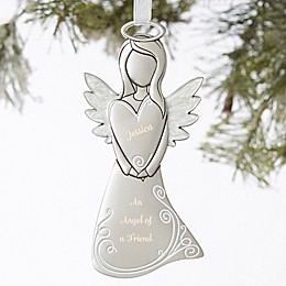 Angel Of A Friend Personalized Christmas Ornament