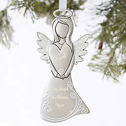 Guardian Angel Personalized Silver Ornament