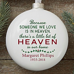 Heaven In Our Home Personalized Memorial Ornament