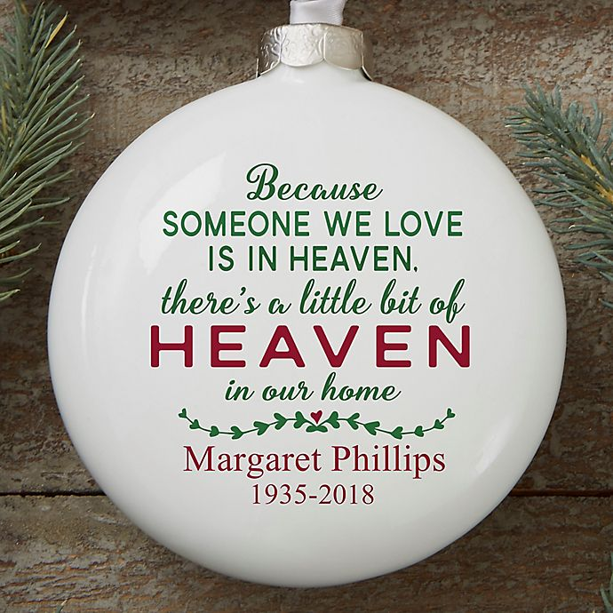 Alternate image 1 for Heaven In Our Home Personalized Memorial Ornament