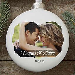 Wedding Day Photo Personalized Globe Ornament