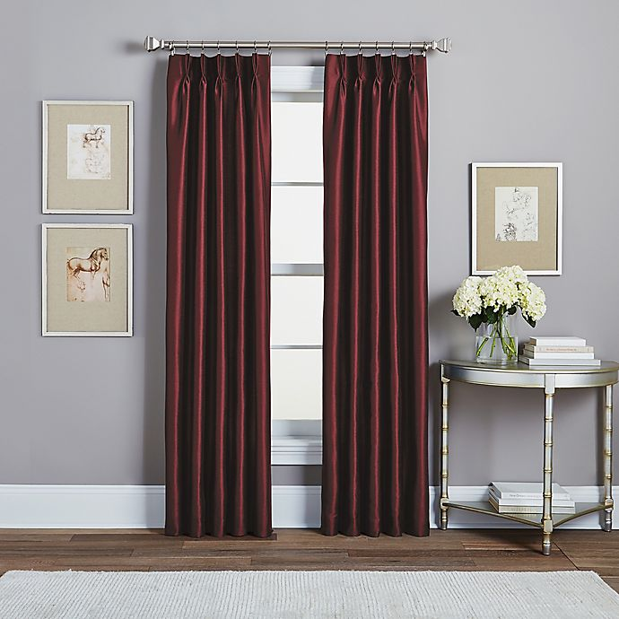 Alternate image 1 for Spellbound Pinch-Pleat Rod Pocket Lined Window Curtain Panel