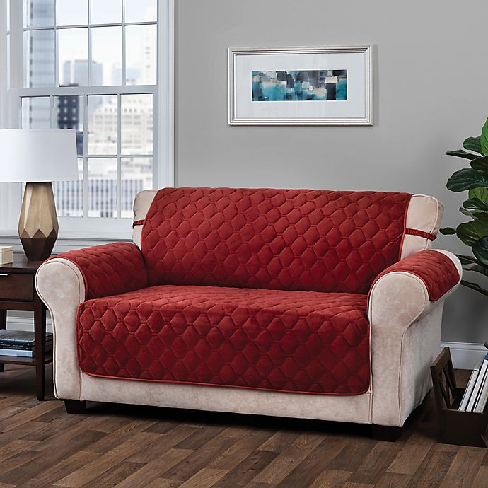 Logan Micro Velvet Sofa Furniture Protector Bed Bath Beyond