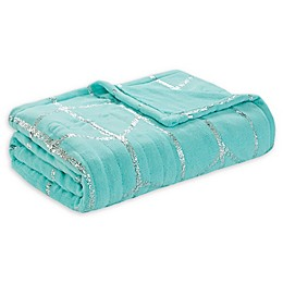 True North by Sleep Philosophy Raina Heated Metallic Throw Blanket