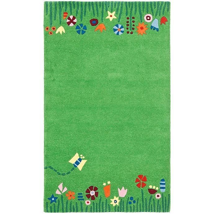 Alternate image 1 for Safavieh Kids® Floral Border Rug in Green