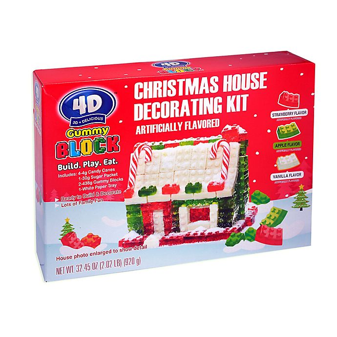 Alternate image 1 for Gummy Block Christmas House Decorating Kit