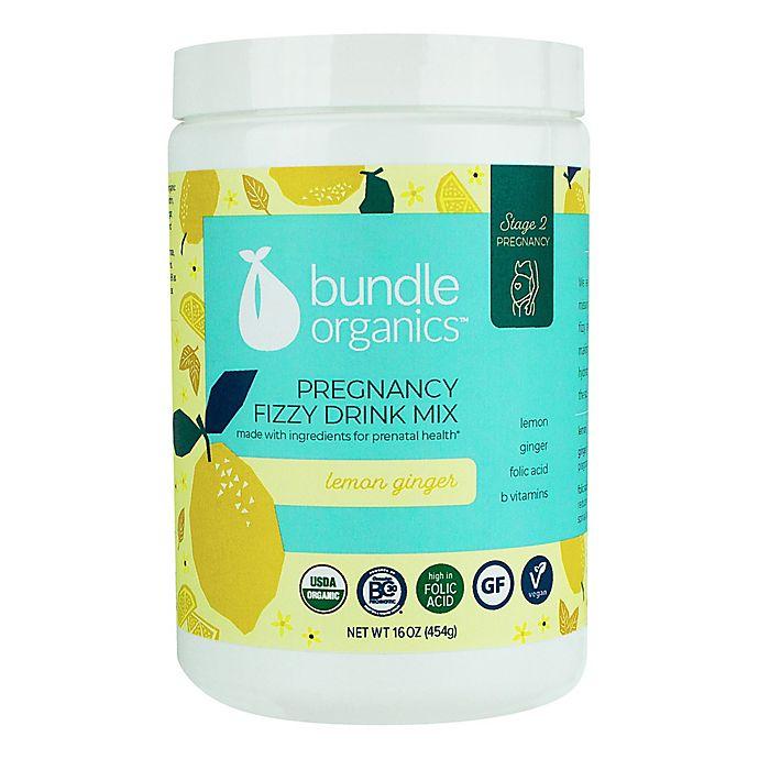 Alternate image 1 for Bundle Organics™ 16 oz. Lemon Ginger Pregnancy Fizzy Drink Mix